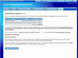 SUNY Undergraduate Application